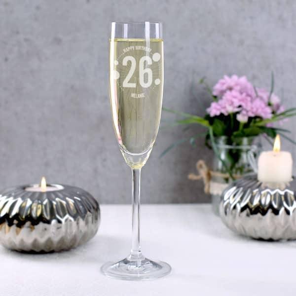 Leonardo Sektglas zum Geburtstag mit Gravur