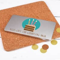 Geschenkverpackung zum Geburtstag für Gutscheine oder Geld