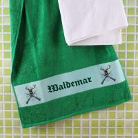 Handtuch für Jäger mit Wunschname