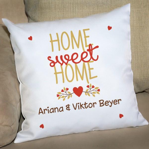 Home sweet Home Kissen Einzug Geschenk