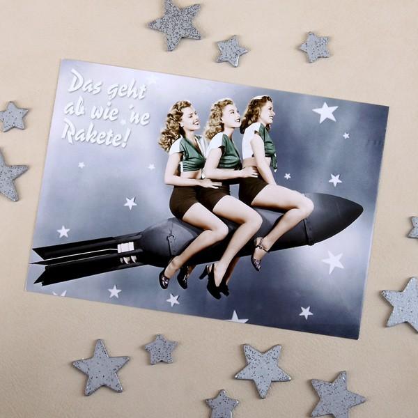 Geburtstagskarte mit Rakete