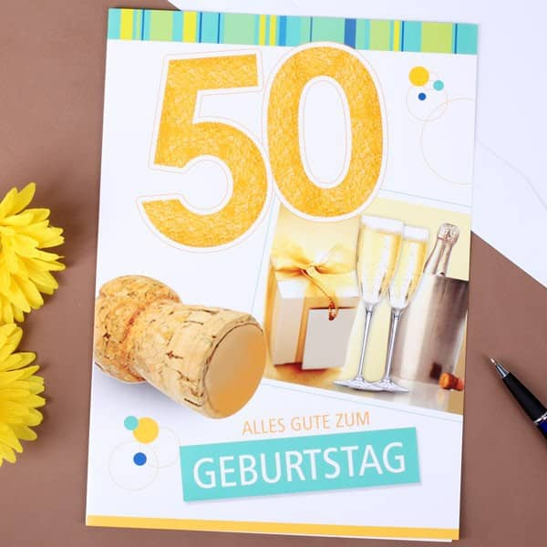 Karte in XL zum 50. Geburtstag