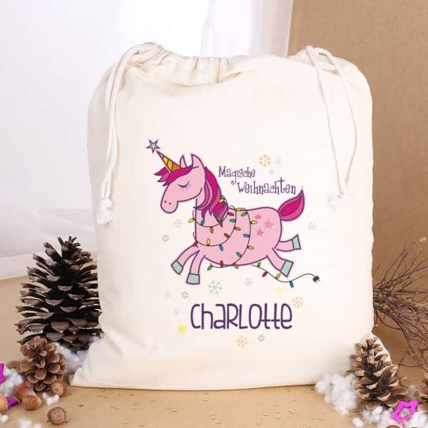 Weihnachtsgeschenke Sack.Einhorn Geschenkesack Verpackung Für Magische Weihnachtsgeschenke