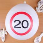 8 Luftballons Verkehrsschild 20