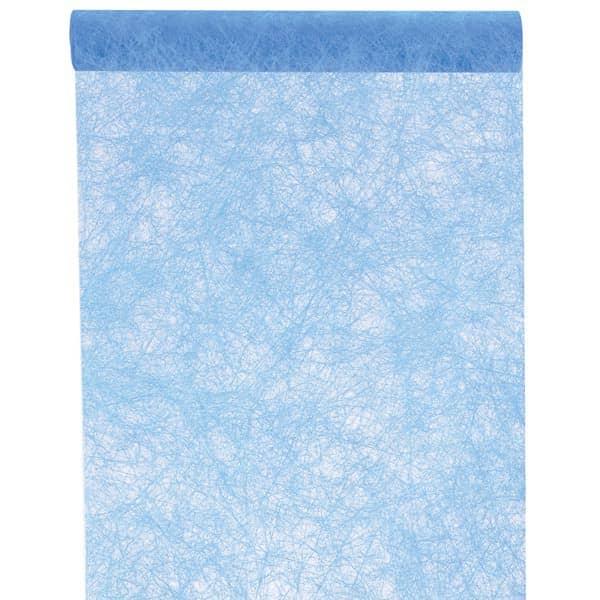 Deko Tischläufer aus Vlies in Himmelblau 1000 cm x 30 cm