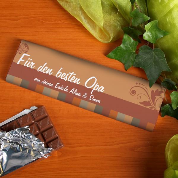 300g Schokolade für den Opa mit Wunschtext