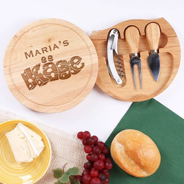 Individuellküchenzubehör - Persönliches Käseset mit Gravur - Onlineshop Geschenke online.de