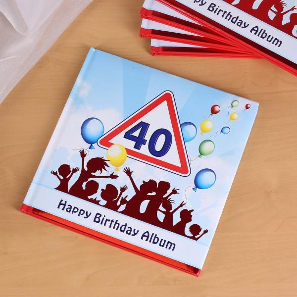 Fotoalbum zum 40. Geburtstag Happy Birthday