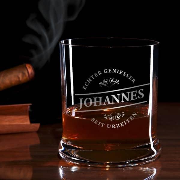 Echter Geniesser Whiskyglas mit Gravur