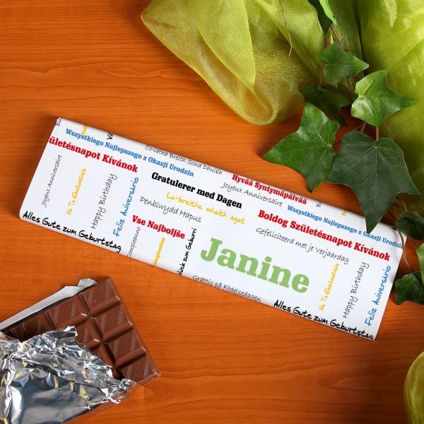Schokolade zum Geburtstag mit Namen