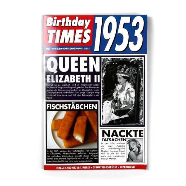 Birthday Times Karte 1953