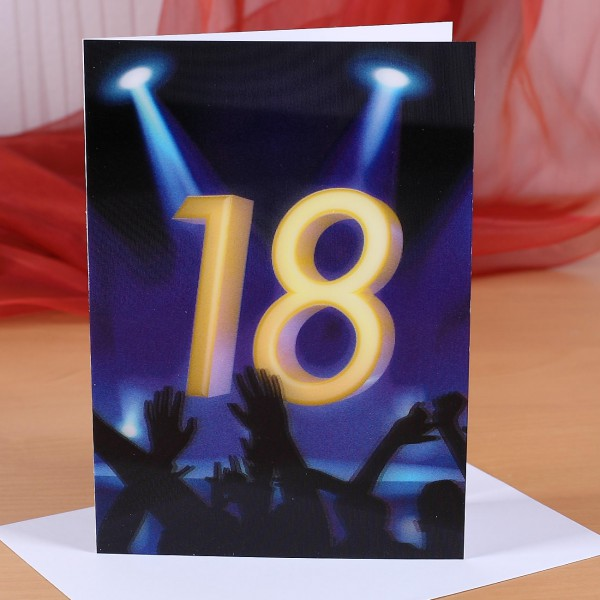 Wackelkarte zum 18. Geburtstag