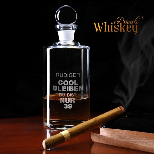 Whiskykaraffe zum Geburtstag mit Wunschname - Cool bleiben