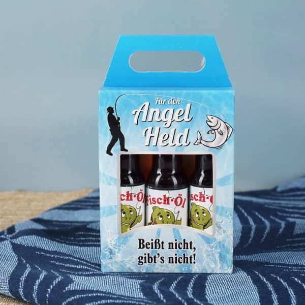 Ausgefallenspezielles - Fisch Öl Likörbox für Angel Helden - Onlineshop Geschenke online.de