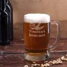 Bierseidel mit Biermotiv und persönlicher Namensgravur