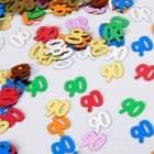 buntes Zahlenkonfetti zum 90. Geburtstag