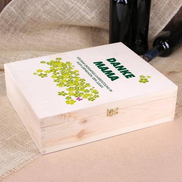 Danke - Geschenkverpackung aus Holz mit Aufdruck