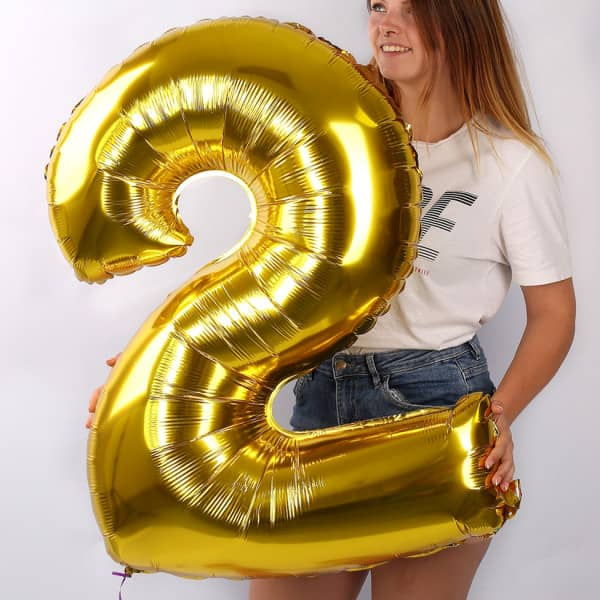 Riesiger Folienballon in Gold 2
