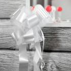 Deko Schleifenband mit Tüll in Weiß