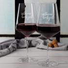 Rotweingläser zur Silbernen Hochzeit