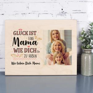 Holzbild zum Muttertag mit Foto