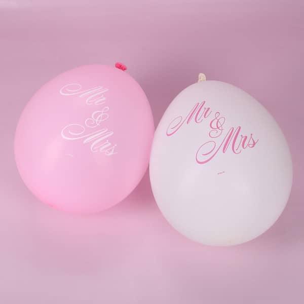 Luftballons zur Hochzeit- Mr. und Mrs.