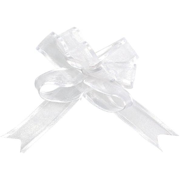 Schleifenbänder aus Organza in weiß