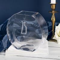 25 Jahre Zusammen - Vase mit eingravierten Namen