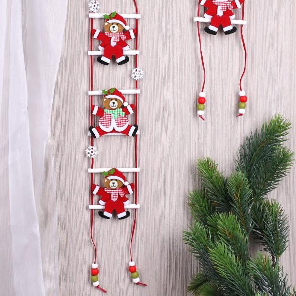 Deko - Filz - Hänger - Weihnachtsbären auf Leiter