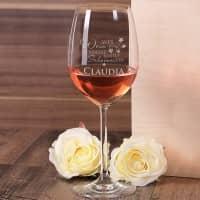 graviertes Weinglas WER WEIN GENIESST... mit Wunschname