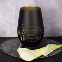 Was bleibt ist die Liebe - Trauer-Teelicht mit Namensgravur