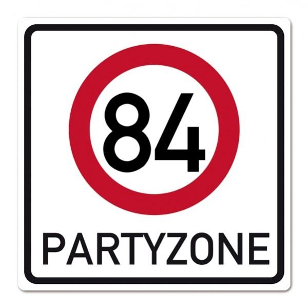 PVC Schild zum 84. Geburtstag