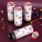 Mini Konfetti-Kanonen zum 40.Geburtstag im 4er Set