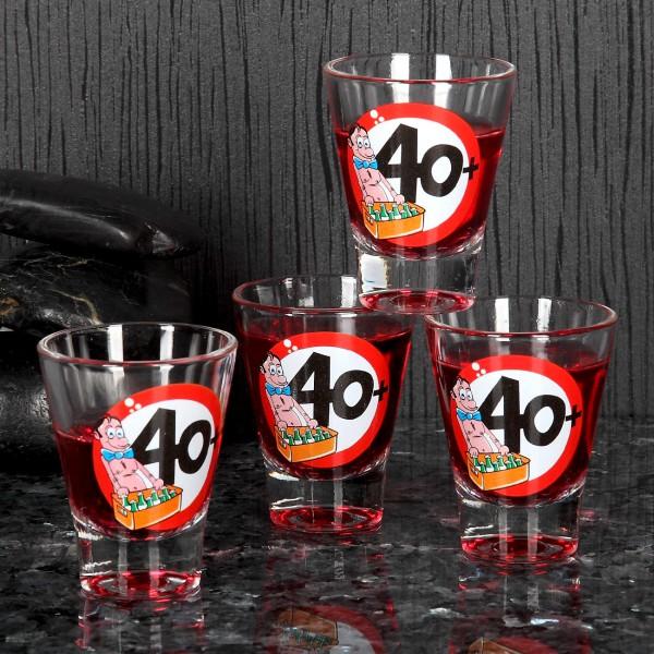 4-tlg. Set Schnaps-Gläser 40+