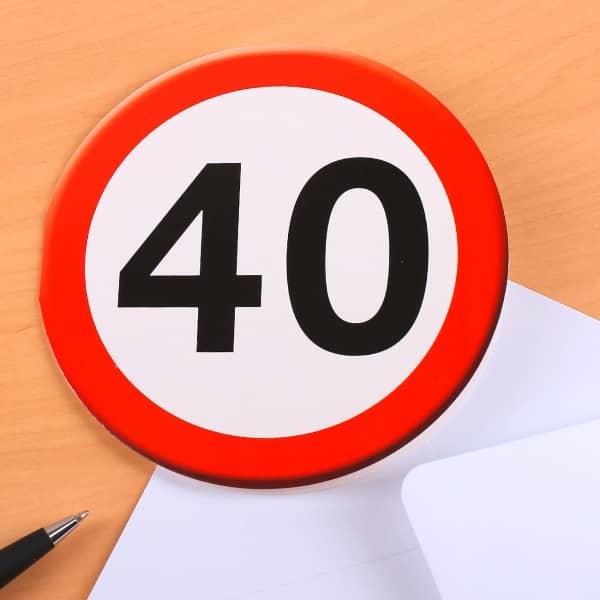 Glückwunschkarte mit Umschlag zum 40.