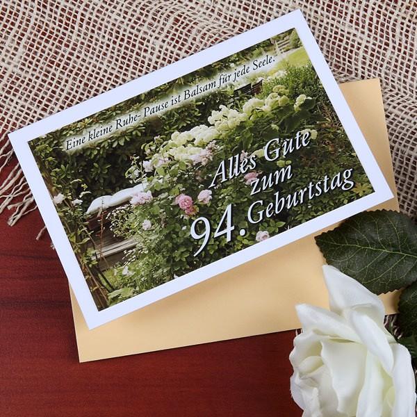 """Karte """" Alles Gute zum  94. Geburtstag"""""""