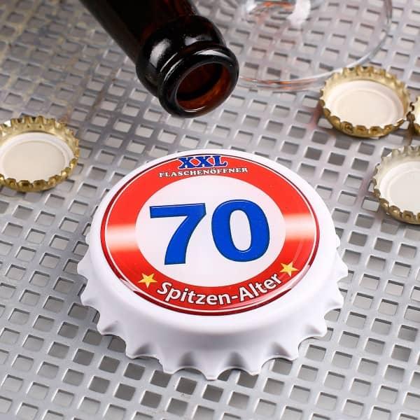 XXL-Flaschenöffner mit Magneten zum 70. Geburtstag