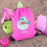 Flamingo Sportbeutel für Schulanfänger