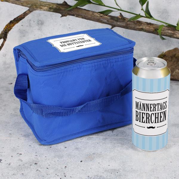 Kühltasche und 6 Bierdosen Männertagsbierchen