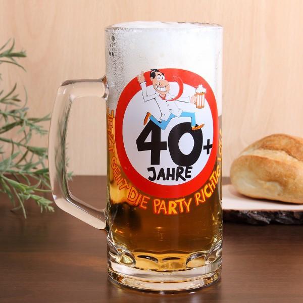 Bierglas 40 Jahre