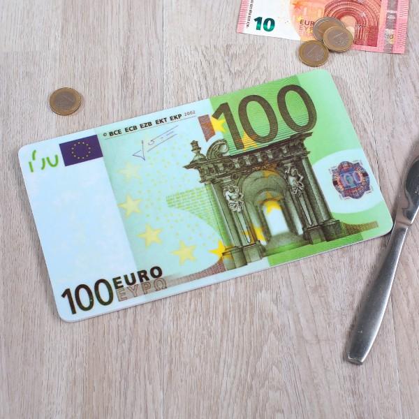 Frühstücksbrettchen im 100 € Schein Design