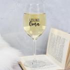 Weinglas für die Lieblingsoma