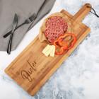 XXL Schneidebrett 58 cm aus Holz mit Wunschgravur