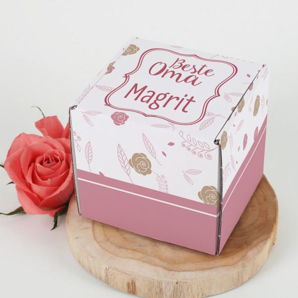 Tassenverpackung ''Beste Oma'' mit Ihrem Wunschtext und Name