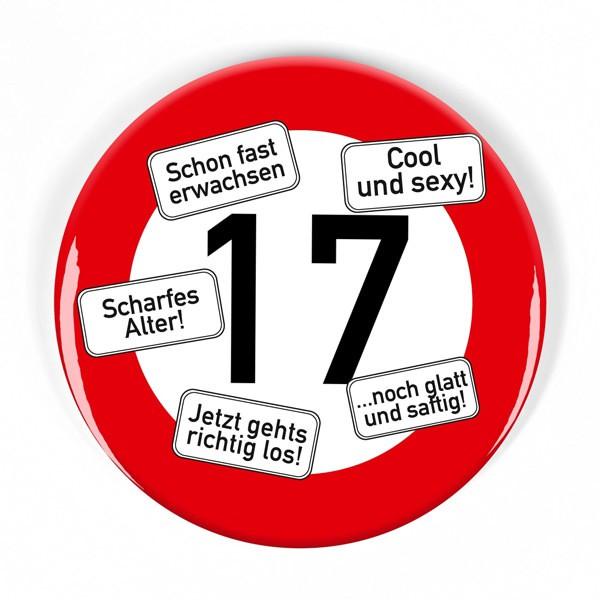 XXL Button Verkehrsschild 17