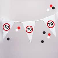 Wimpel-Kette Verkehrszeichen 70
