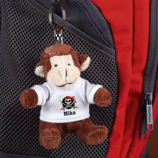 Personalisierter Schlüsselanhänger Affe