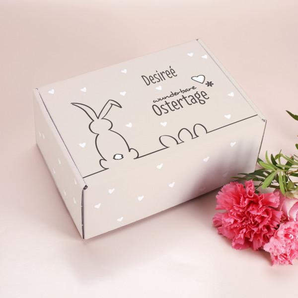 Geschenkbox zu Ostern mit Name personalisiert