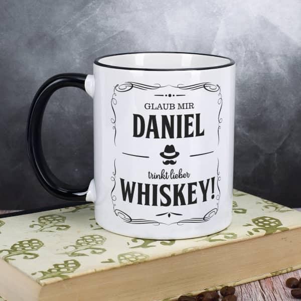 Whisky-Tasse mit Name