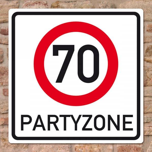 Riesiges PVC Verkehrsschild zum 70. Geburtstag